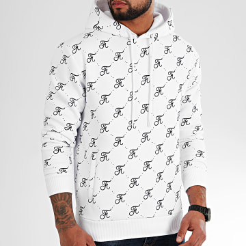Final Club - Sweat Capuche Allover Logo 330 Blanc