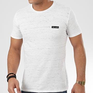 Teddy Smith - Tee Shirt Nark Blanc Chiné