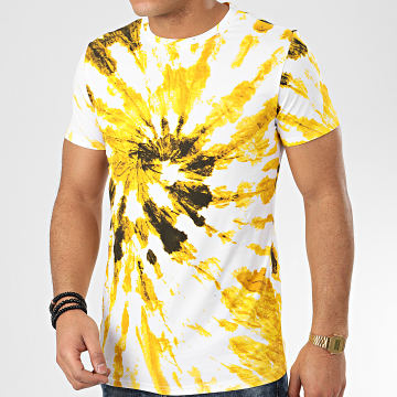 Terance Kole - Tee Shirt 98366 Blanc Jaune