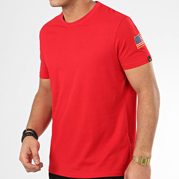 Alpha Industries - Tee Shirt NASA 176506 Rouge