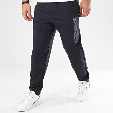 Pantalon Jogging GMS0P695 Bleu Marine Réfléchissant