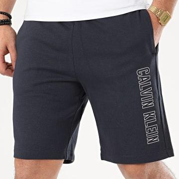 Short Jogging GMS0S878 Bleu Marine Réfléchissant