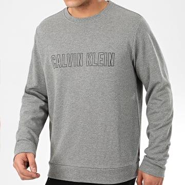 Calvin Klein - Sweat Crewneck GMS0W367 Gris Chiné Réfléchissant