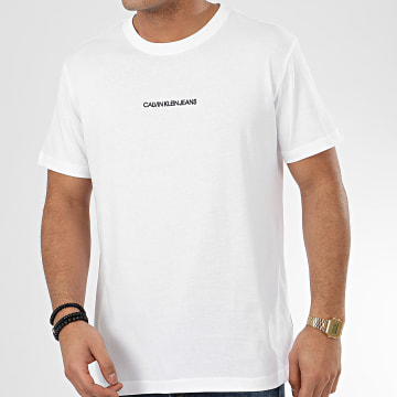 Tee Shirt Institutional Chest Logo 5186 Blanc
