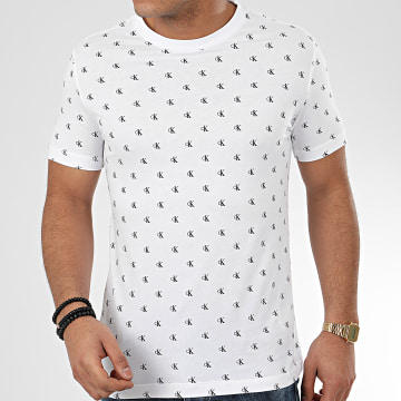 Tee Shirt CK All Over Print 5289 Blanc