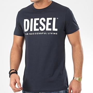 Diesel - Tee Shirt Diego Logo 00SXED-0AAXJ Bleu Marine