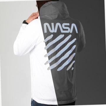 NASA - Coupe-Vent Skid Réfléchissant Blanc