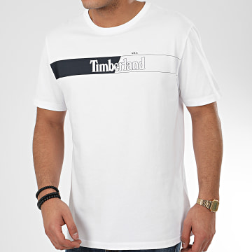 Timberland - Tee Shirt Horiz Timb T L4L A2CGU Blanc