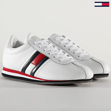 Tommy Jeans - Baskets Femme Retro Flag Sneaker 0874 White Red Blue