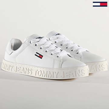 Tommy Hilfiger - Baskets Femme Cool Tommy Jeans Sneaker 0877 White