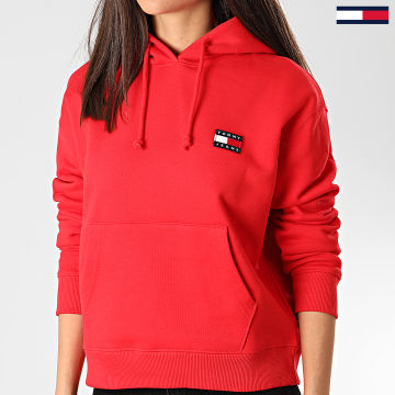 Tommy Jeans - Sweat Capuche Femme Tommy Badge 7787 Rouge