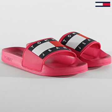 Tommy Jeans - Claquettes Femme Flag Poolside 0474 Rose