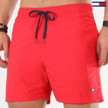 Tommy Hilfiger - Short De Bain Medium Drawstring 1080 Rouge