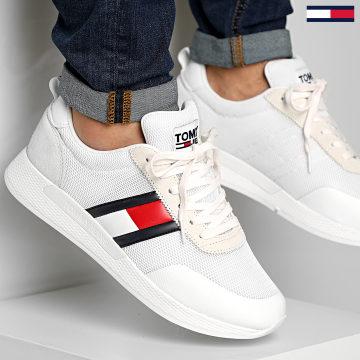 Baskets Flexi Tommy Jeans Flag Sneaker 0400 White