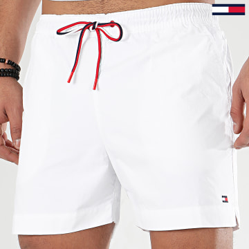 Tommy Hilfiger - Short De Bain Medium Drawstring 1710 Blanc