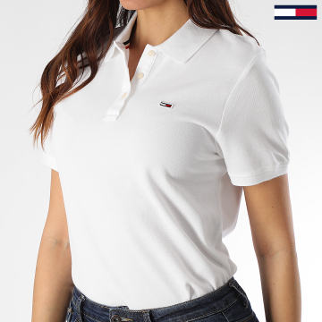 Polo Manches Courtes Femme Tommy Classics 7641 Blanc