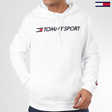 Tommy Sport - Sweat Capuche Fleece Logo 0363 Blanc