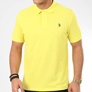 US Polo ASSN - Polo Manches Courtes Institutional Jaune