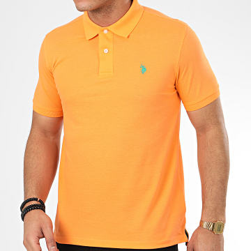 US Polo ASSN - Polo Manches Courtes Institutional Orange
