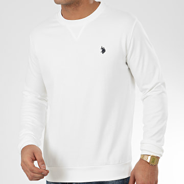 US Polo ASSN - Sweat Crewneck Tricolor Ecru