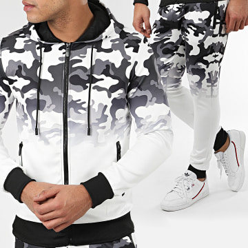 Zayne Paris  - Ensemble De Survêtement Camouflage E63-1 Blanc