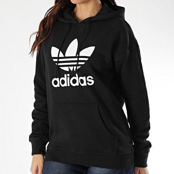 Adidas Originals - Sweat Capuche Femme Trefoil FM3307 Noir