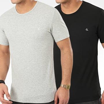 Lot De 2 Tee Shirts NB2221A Noir Gris Chiné