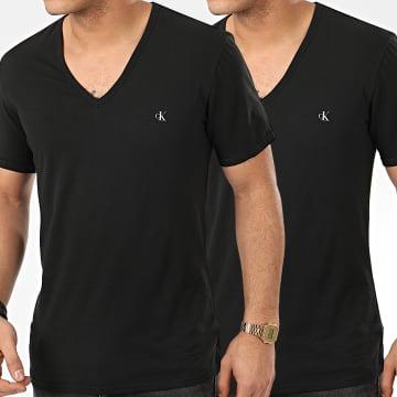 Lot De 2 Tee Shirt Col V NB2408A Noir