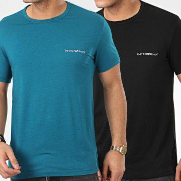 Lot De 2 Tee Shirts 111267-0P717 Noir Turquoise