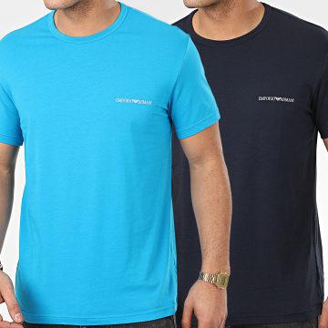 Lot De 2 Tee Shirts 111267-0P717 Bleu Clair Bleu Marine