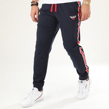 Pantalon Jogging A Bandes 111690-0P571 Bleu Marine