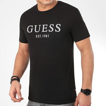 Tee Shirt M0GI93-J1300 Noir Argenté