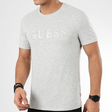 Guess - Tee Shirt M0GI93-J1300 Gris Chiné Argenté