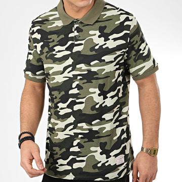 Polo Manches Courtes Camouflage M0GP90-I3Z00 Vert Kaki