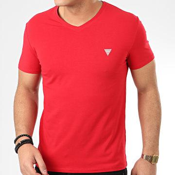 Tee Shirt Col V M0GI32-J1300 Rouge