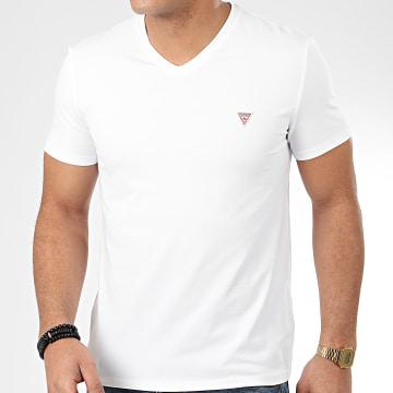 Tee Shirt Col V M0GI32-J1300 Blanc