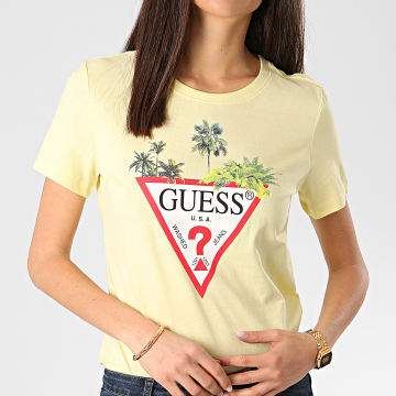 Guess - Tee Shirt Femme W0GI52-JA900 Jaune Clair