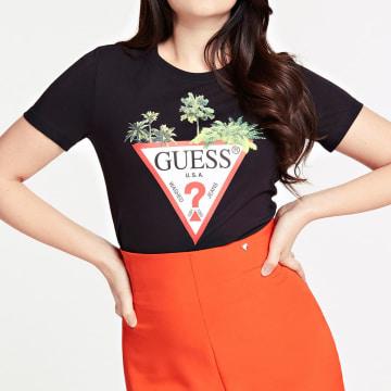 Guess - Tee Shirt Femme Floral W0GI52-JA900 Noir