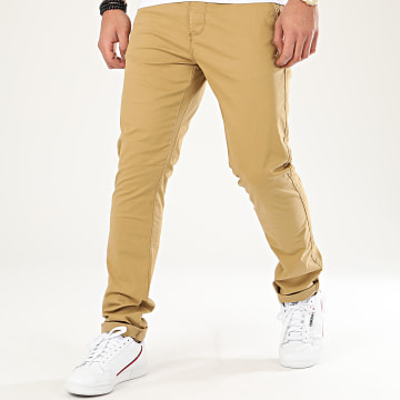 Indicode Jeans - Pantalon Chino Nelson Moutarde