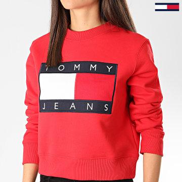 Sweat Crewneck Femme Tommy Flag 7414 Rouge