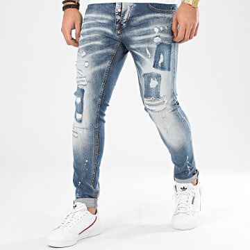 Jean Slim 208 Bleu Denim
