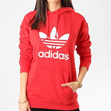 Adidas Originals - Sweat Capuche Femme FM3298 Rouge