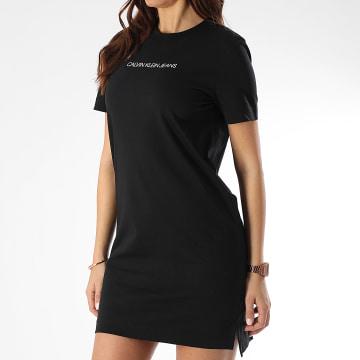 Calvin Klein - Robe Tee Shirt Femme Institutional 3702 Noir