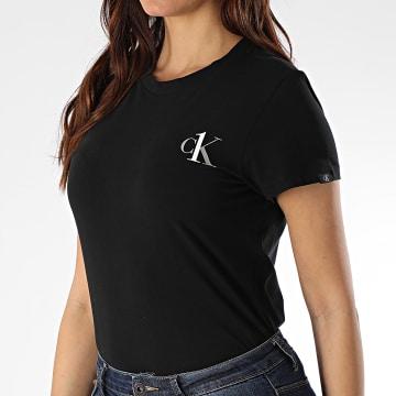 Calvin Klein - Tee Shirt Femme Crew Neck 6356E Noir
