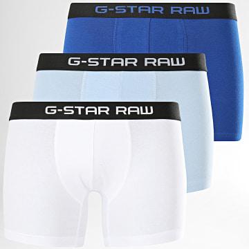 G-Star - Lot De 3 Boxers D13383-2058 Blanc Bleu