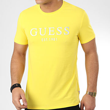 Tee Shirt M0GI93-J1300 Jaune Argenté