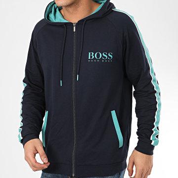 Hugo Boss - Sweat Zippé Capuche A Bandes Authentic 50424806 Bleu Marine