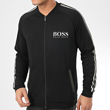 Veste Zippée A Bandes Authentic 50424789 Noir