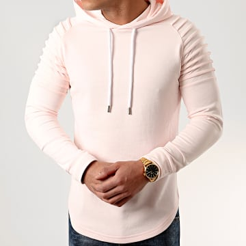 LBO - Sweat Capuche Oversize 836 Rose Pale