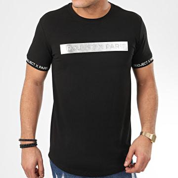 Tee Shirt Oversize 2010088 Noir Argenté